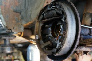 The right, rear brake was seized from rust.