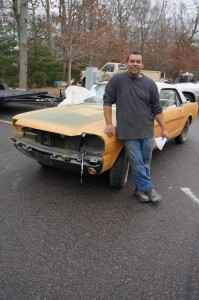 Ricardo Mendez and the Yellow Primed Car