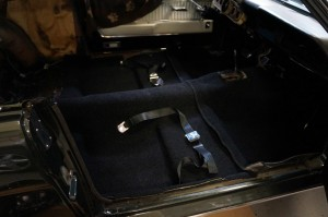 New carpet and seatbelts
