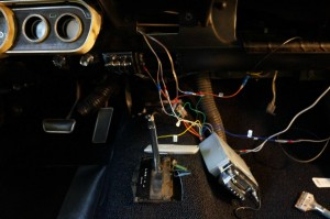 Radio wiring outside of the dash