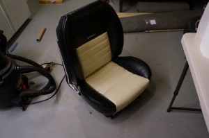 One re-upholstered seat